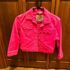 American Eagle Hot Pink Jean jacket!  Never worn!